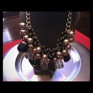 Over the top crown jewel necklace
